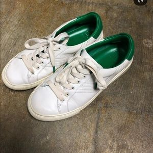 Tory Burch Sport Green and White Sneakers